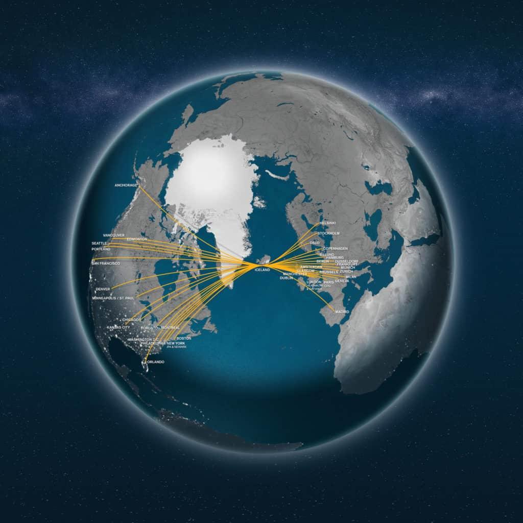 Siatka połączeń linii Icelandair