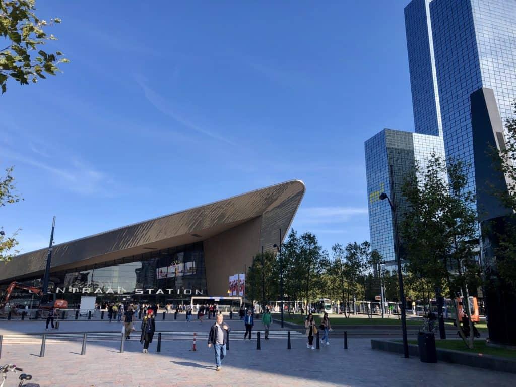 Główna stacja kolejowa w Rotterdamie