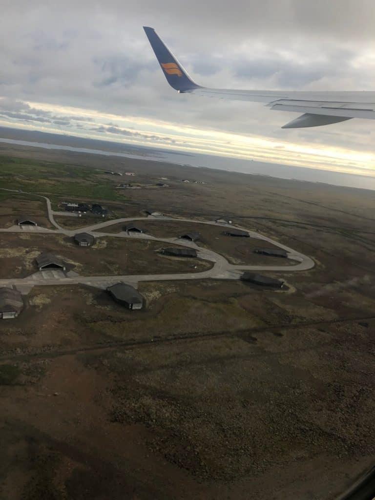 Icelandair over Iceland