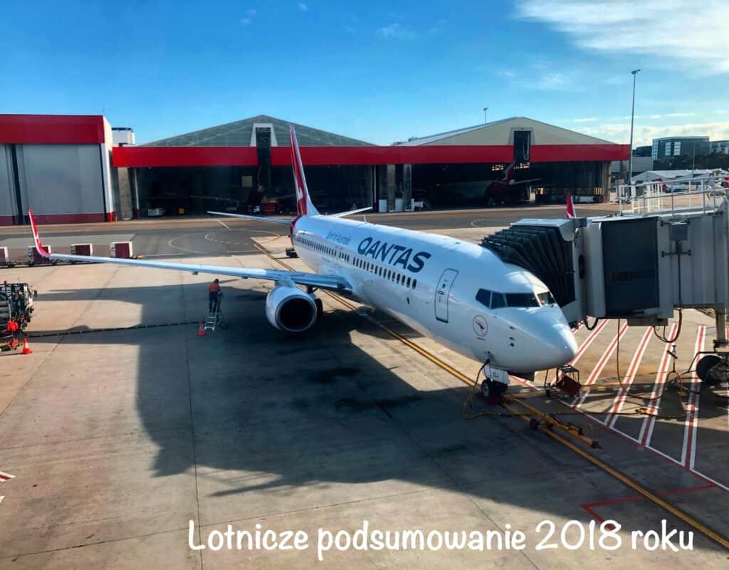 Samolot Boeing 737 linii Qanats na lotnisku w Sydney, w Australii