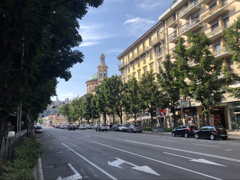 Główna ulica w Bergamo