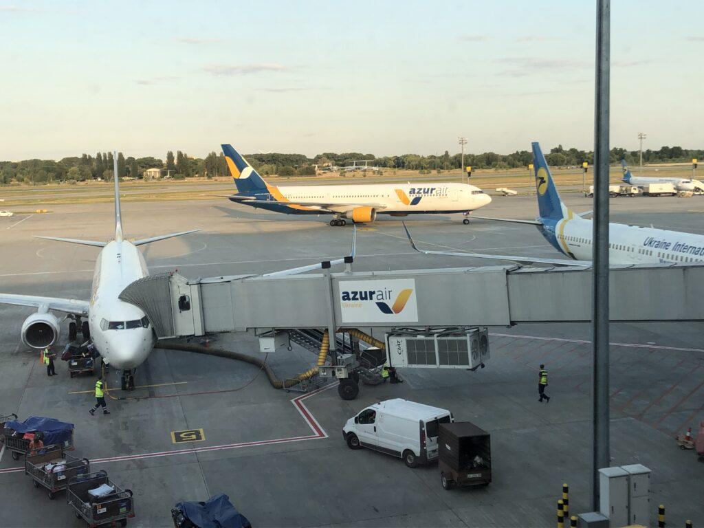 Zdjęcie płyty lotniska Boryspol w Kijowie